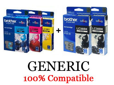 Brother Generic LC-38 Pack
